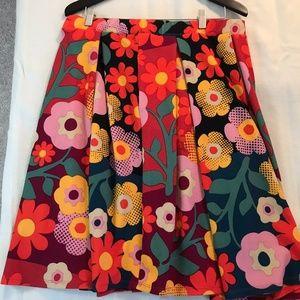 LuLaRoe Floral Skirt XL